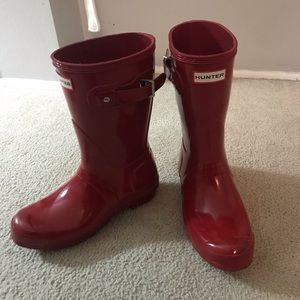 Short Red Hunter Boots!
